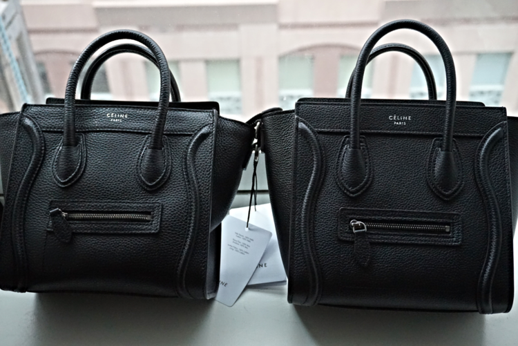 celine luggage bag real vs fake