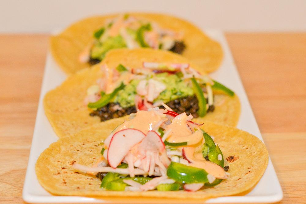 Beluga Lentil Tacos (Grade: A-)