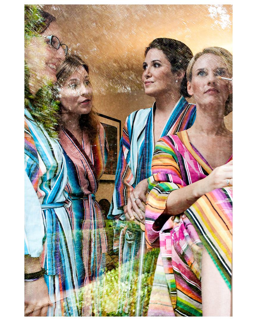 Sara Lowery with bridesmaids, San Jose Hotel, Austin, Texas