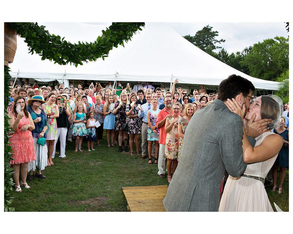 Whitney Radley and Bradley Kerl, backyard wedding, Sour Lake, Texas