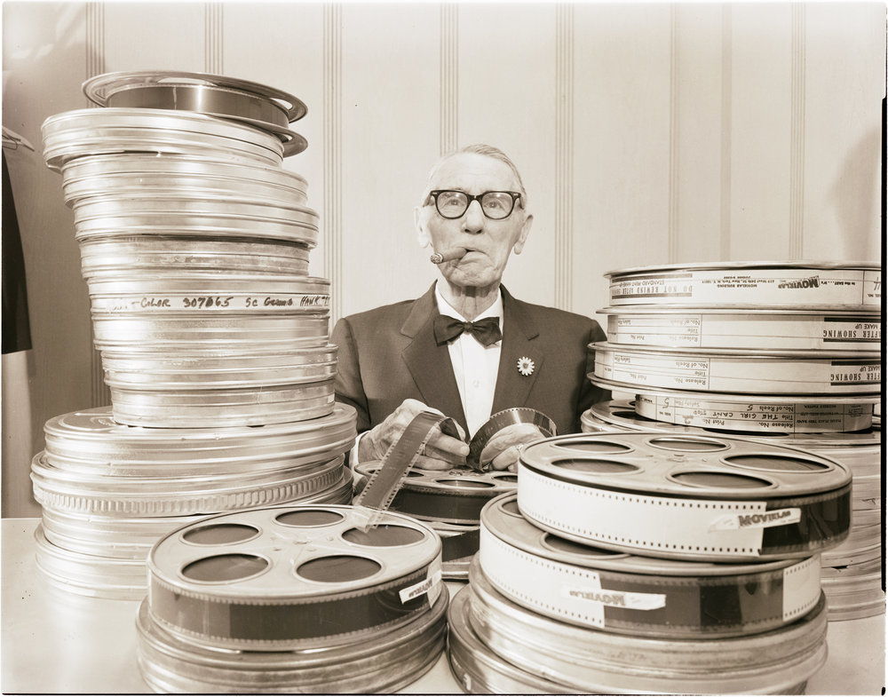 B1598.5 Chairman of the Maryland State Board of Motion Picture Censors Egbert L. Quinn. A. Aubrey Bodine, c. 1967. Courtesy of the Maryland Historical Society.