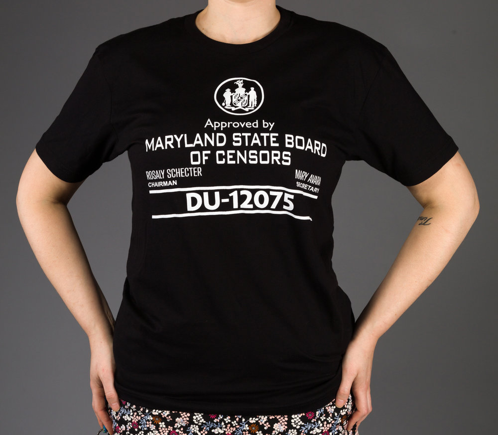 Purchase a SICKIES Maryland Board of Censors T-Shirt - Get your Maryland Board of Censors seal t-shirt - limited quantities available! These were made for the premiere of the film.