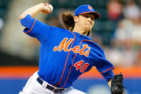 It'll be stellar starting pitching vs. stellar relief pitching as the Mets Jacob deGrom (above) and the Mets starters face stud closer Wade Davis (below) and the Royals bullpen