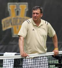 Coach Geoff McDonald (above) and his VU women's tennis teams aims to recapture the glory from 2015