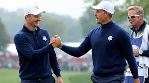 Going with the successful Ryder Cup team and major champions to capture the Zurich, Photo courtesy of Sky Sports, Rose left, Stenson right