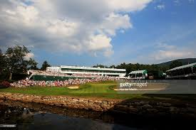 The 18th at the Old White Course is interesting and should be thrilling on Sunday. (Photo courtesy of Getty Images).
