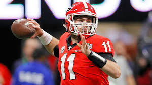Jake Fromm leads them Dawgs into Baton Rouge Saturday afternoon (Photo, Sporting News).