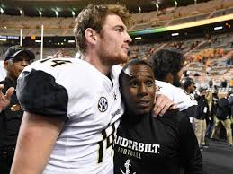Kyle Shurmur and Coach Mason aim to build on their legacy next Thursday in Houston in the Texas Bowl (Photo, Knoxville News Sentinel).