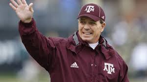 Jimbo Fisher's Aggies in action tonight in the Gator Bowl versus North Carolina State (Photo, Football Scoop).