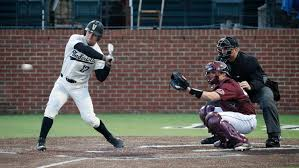 Walker Grisanti with a huge homer to right in the top of the 9th against the Dawgs (Photo Vanderbilt Athletics).