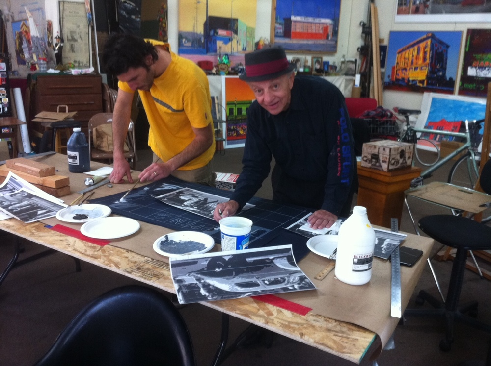 Richard and Francesco prepare another mural...