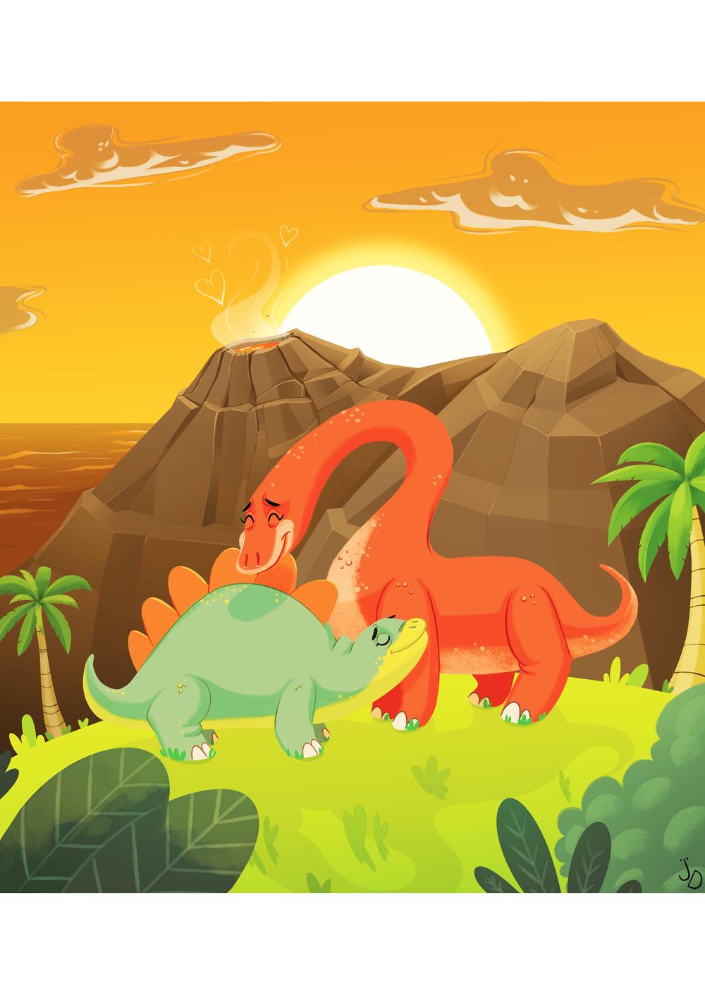 Dinos In Love