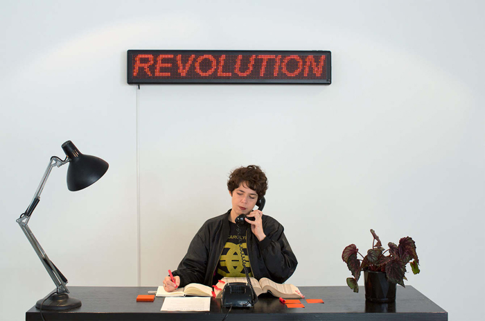 Kelly Doley,  Cold Calling a Revolution  (2014-15) Photograph: Lara Merrington and Jessica Maurer