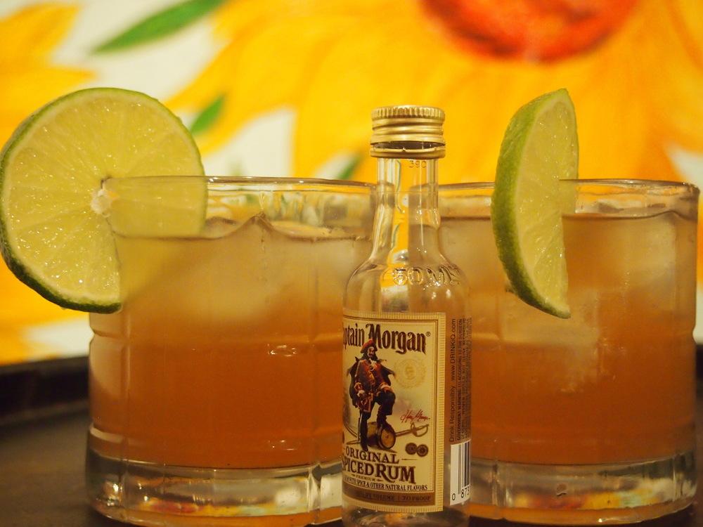 Rumbucha. Plain Jane Zip Kombucha and spiced rum.