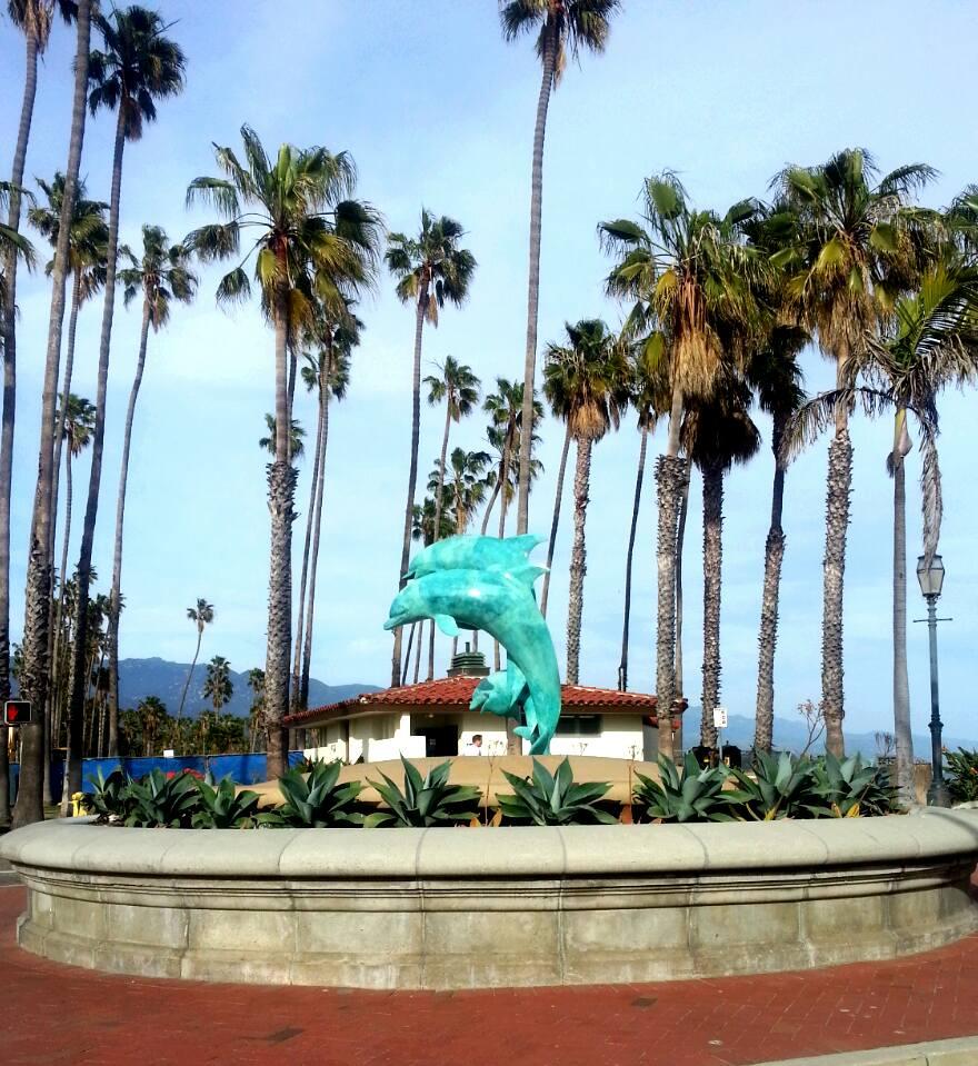 Stearn's Wharf Dolphin Statue
