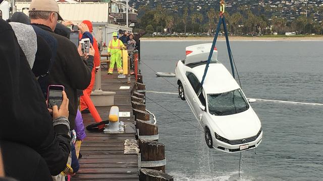 Car Drove off Pier Santa Barbara