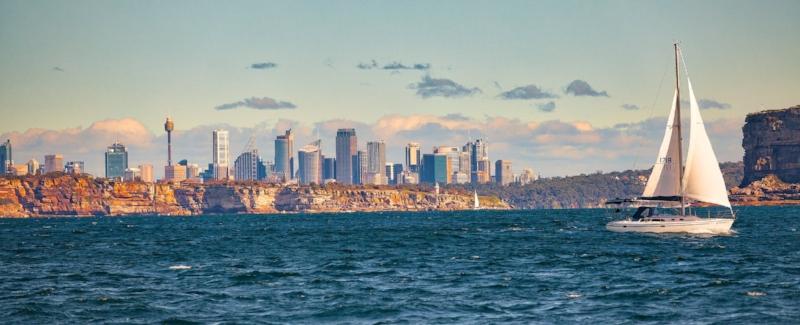 ocean, skyline, boat, seafood restaurant, beach