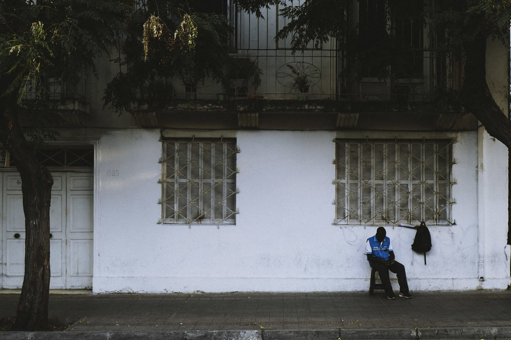 Man Sleeping, Santiago, Chile