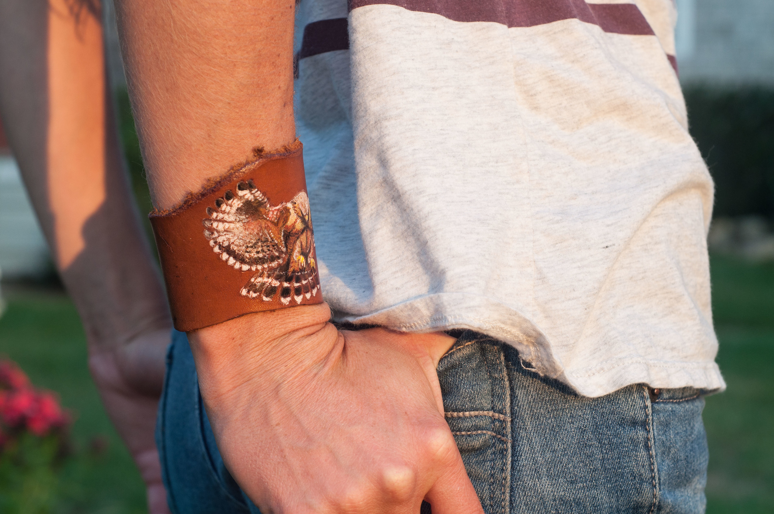 Hawk Leather Cuff