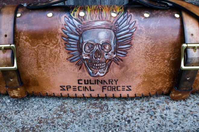 Flaming Skull Chef Knife Roll-11