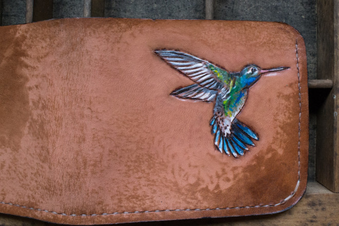hummingbird leather wallet-3