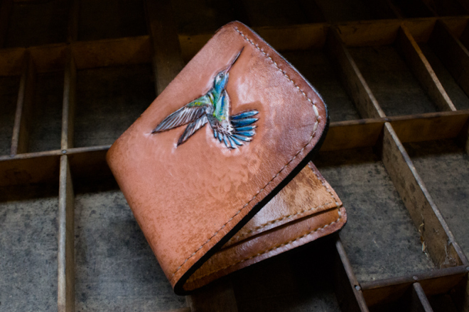 hummingbird leather wallet