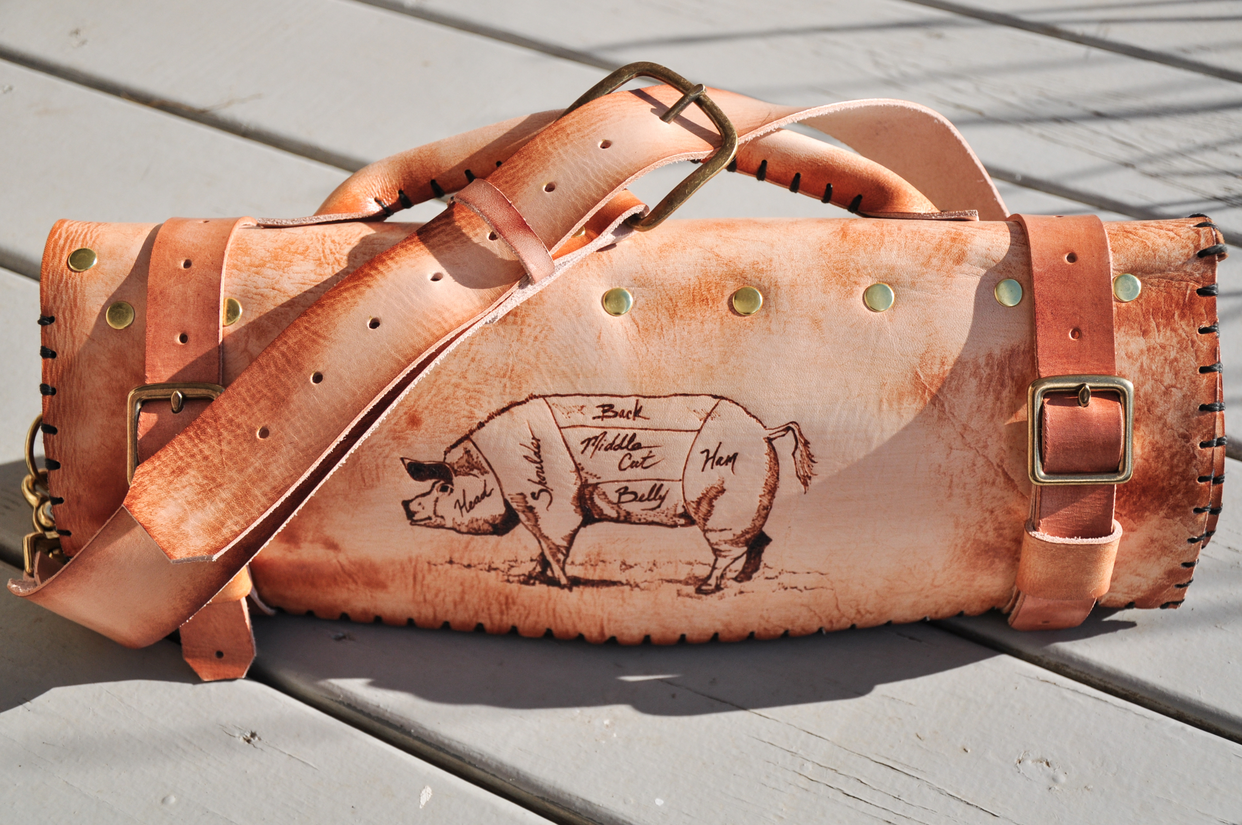 Custom Leather Knife Roll Linny Kenney