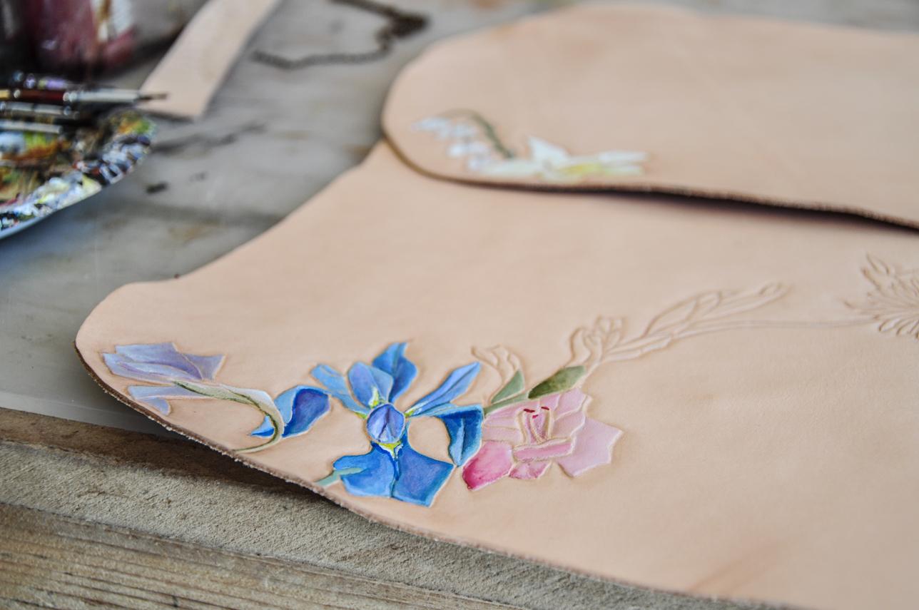 making of custom leather bag
