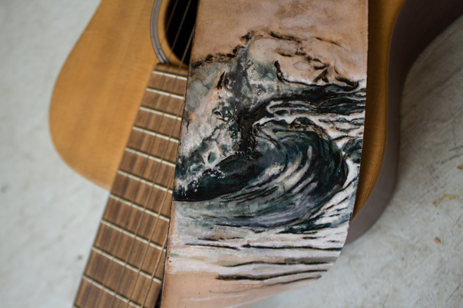 surfer wave guitar strap-4
