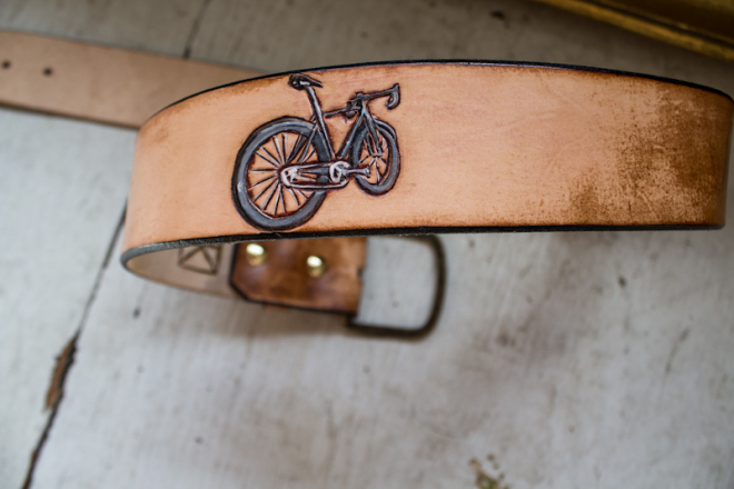 bike and dog leather belt-4