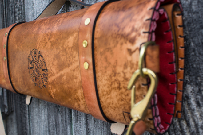 Flowers and Sanskrit custom leather chef roll-5