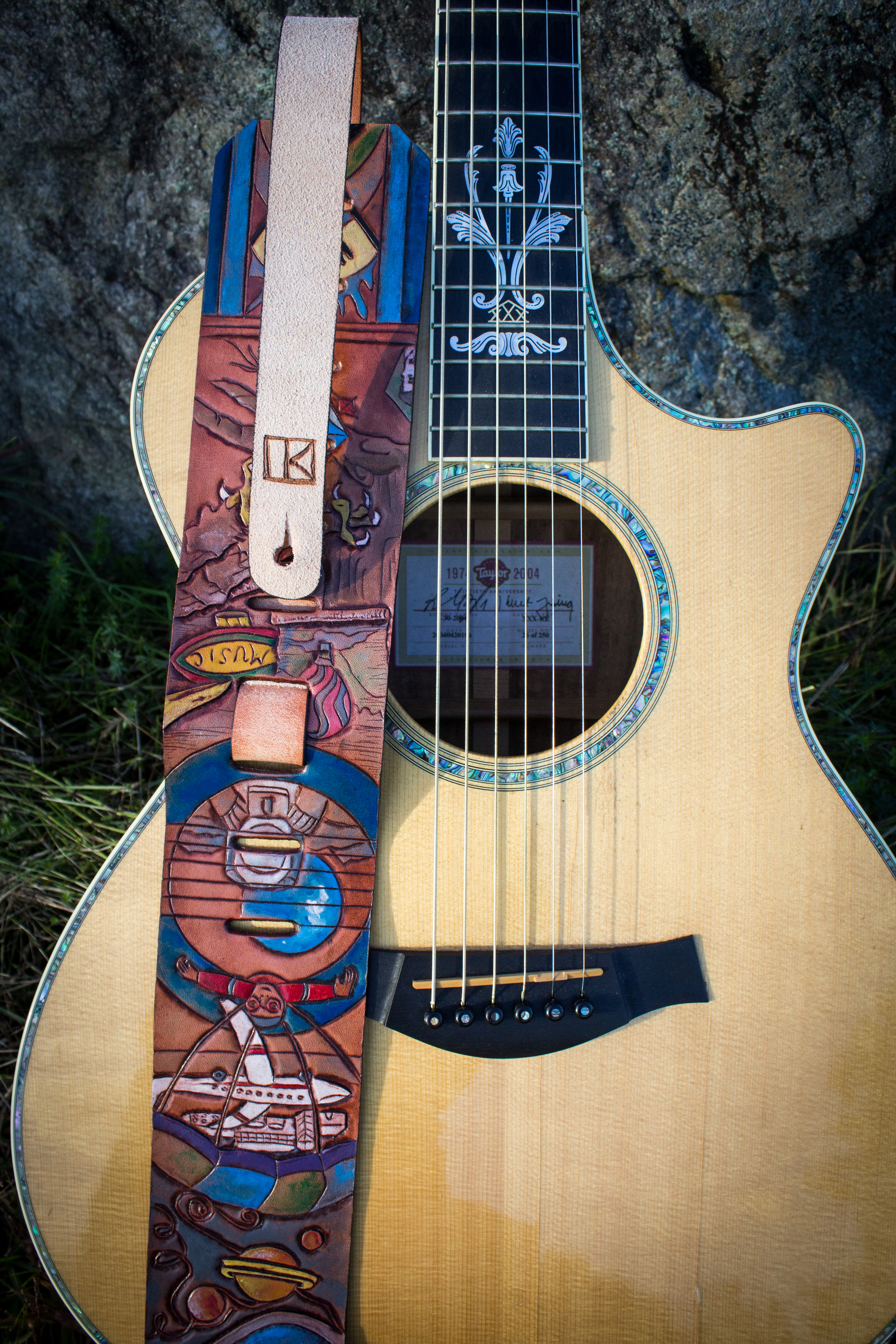 Boats and Airplanes Custom Guitar Strap