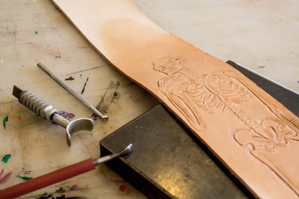 Skeleton Leather Strap process