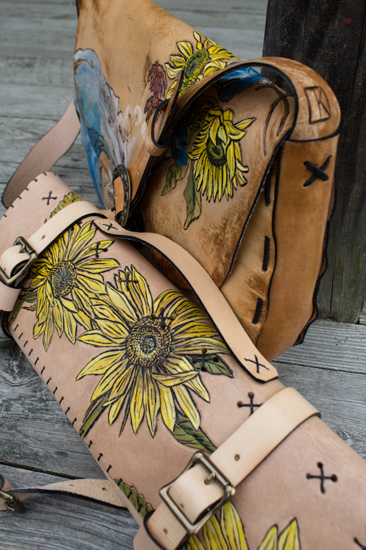 Water to Flowers custom leather bag-15