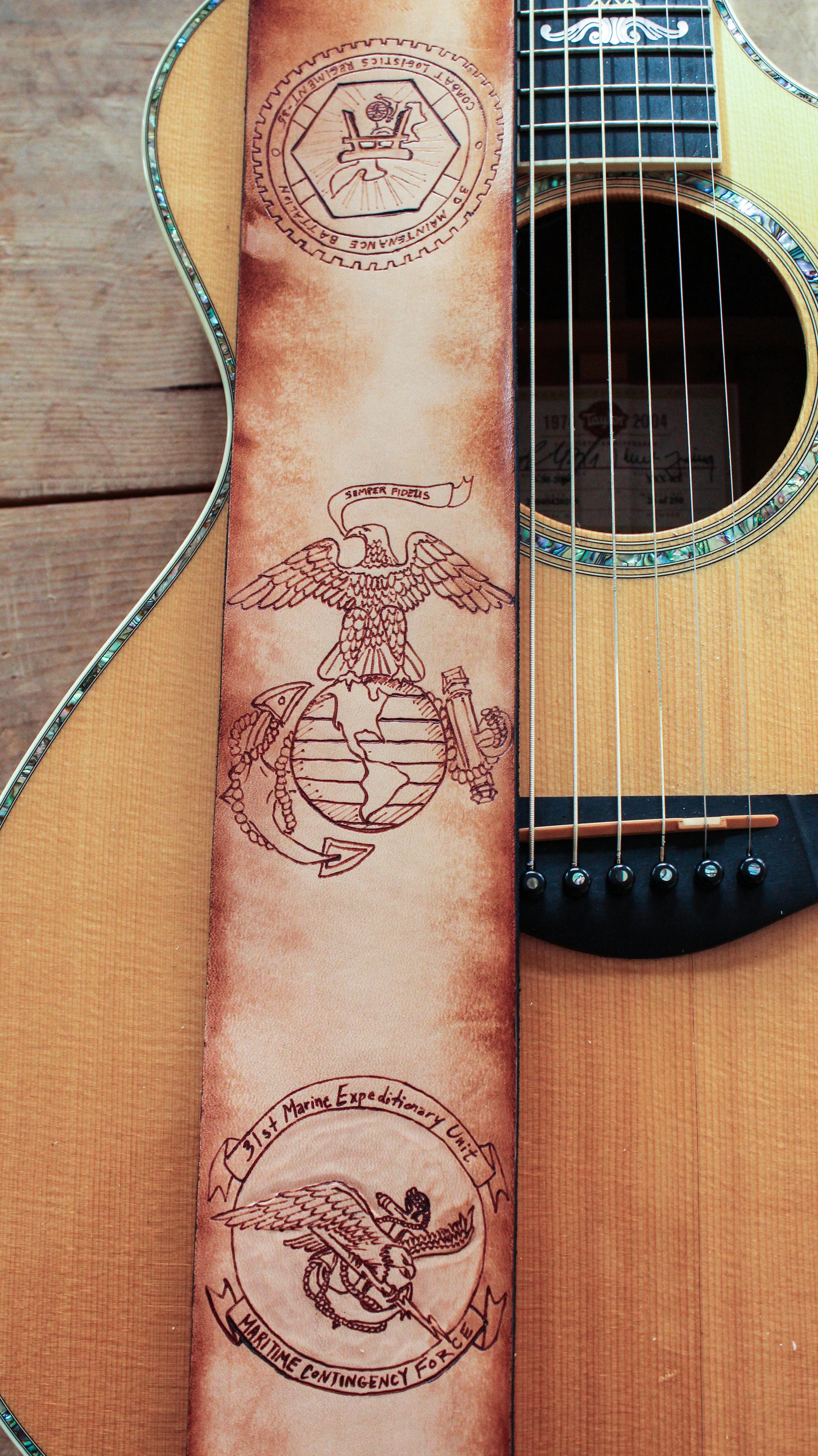 Marine Corps Guitar Strap-2
