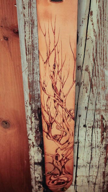 Snakes and Tree Guitar Strap
