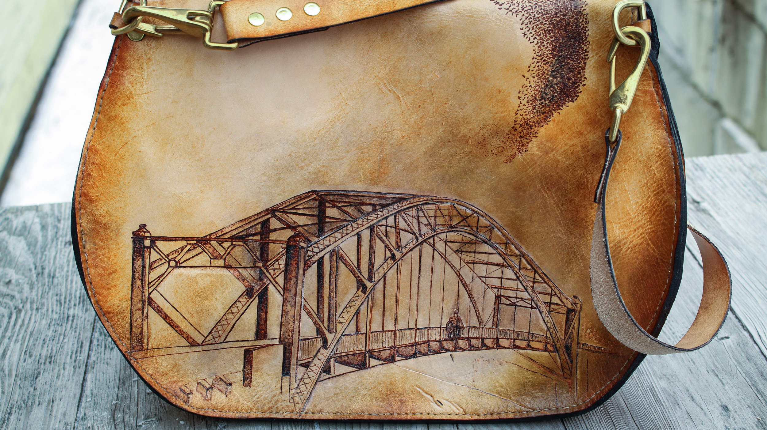 starlings and bridge custom leather purse