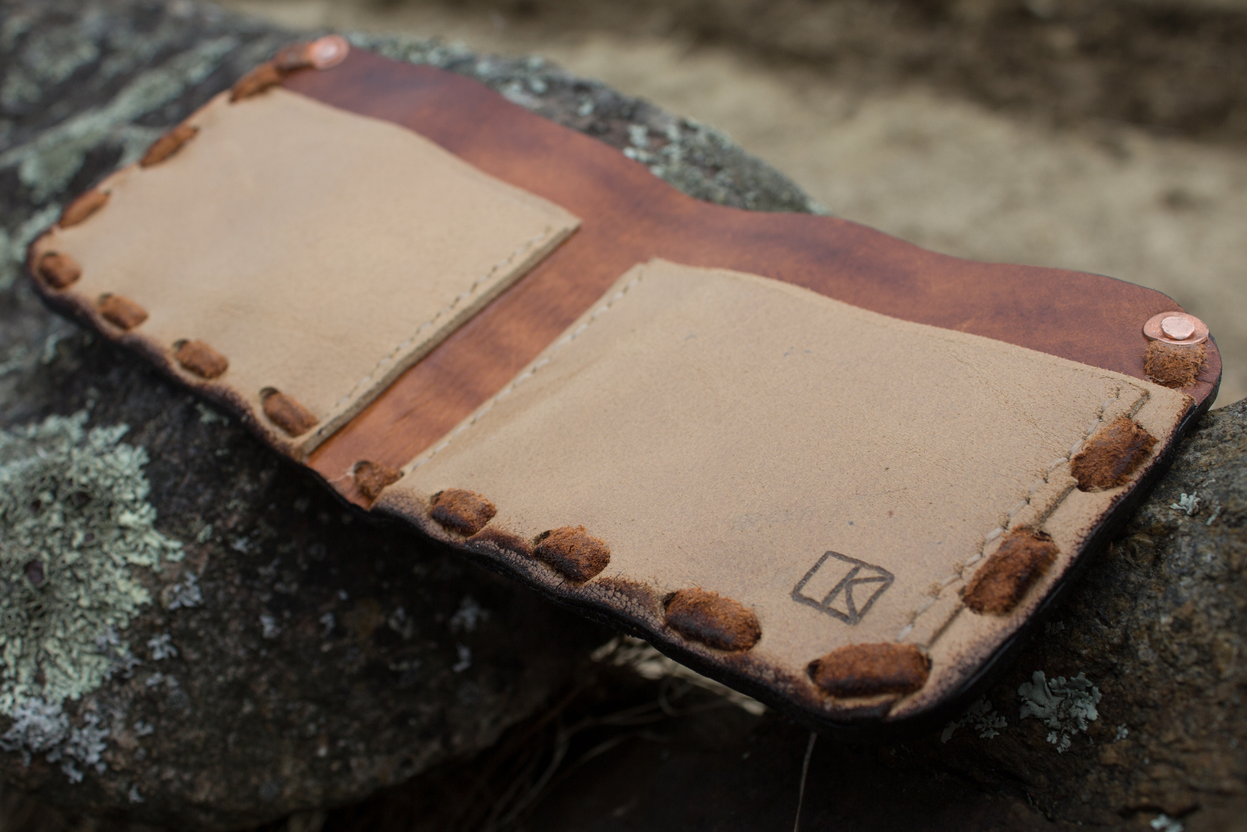 Buffalo and hawk mens custom leather wallet-6