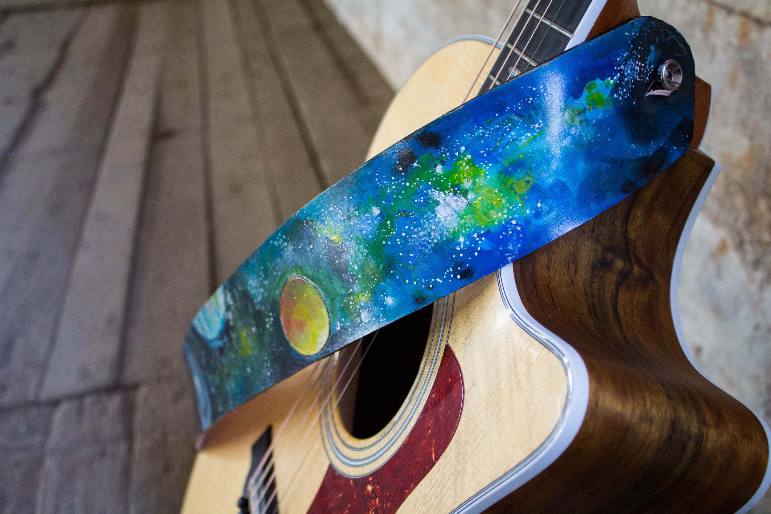 Space Leather Guitar Strap-2