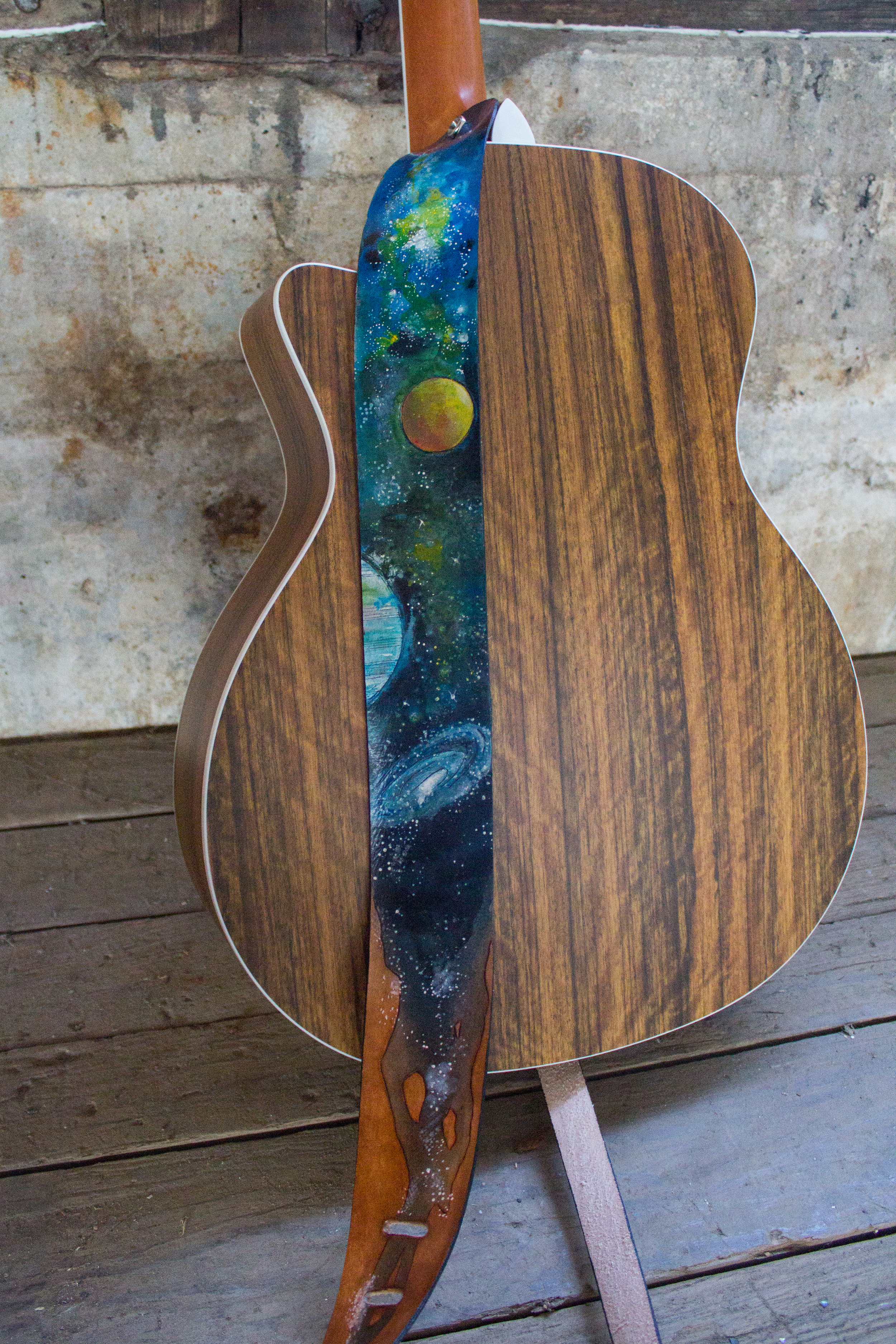 Space Leather Guitar Strap-3