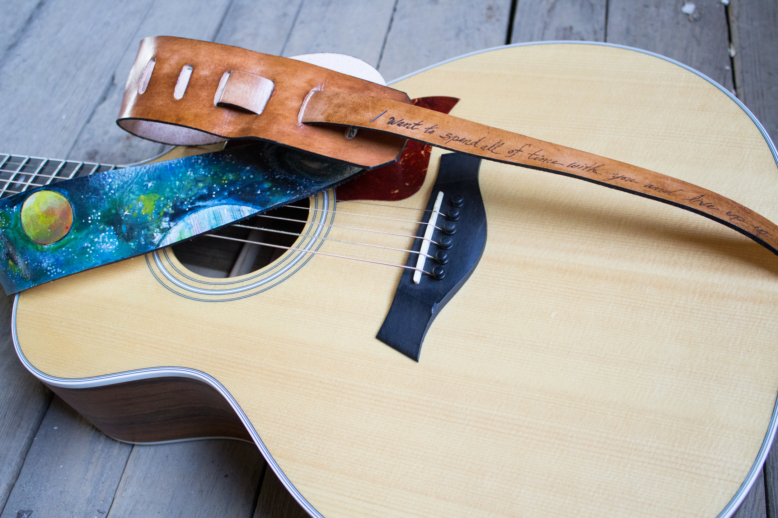 Space Leather Guitar Strap-5