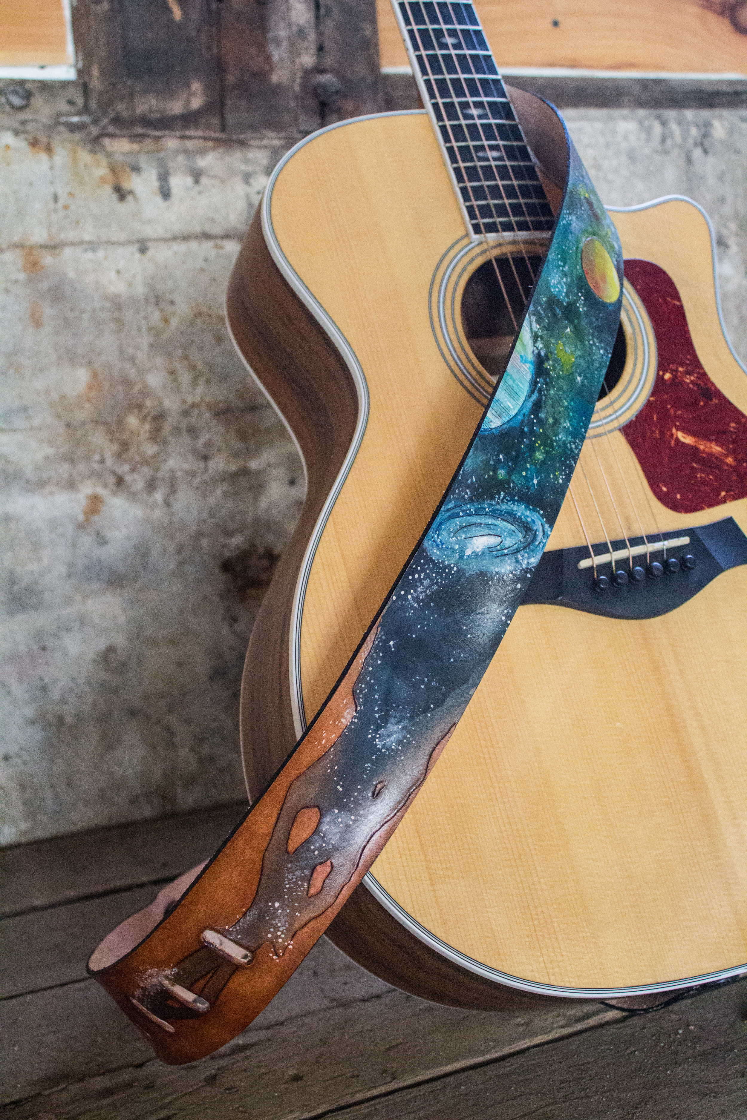 Space Leather Guitar Strap