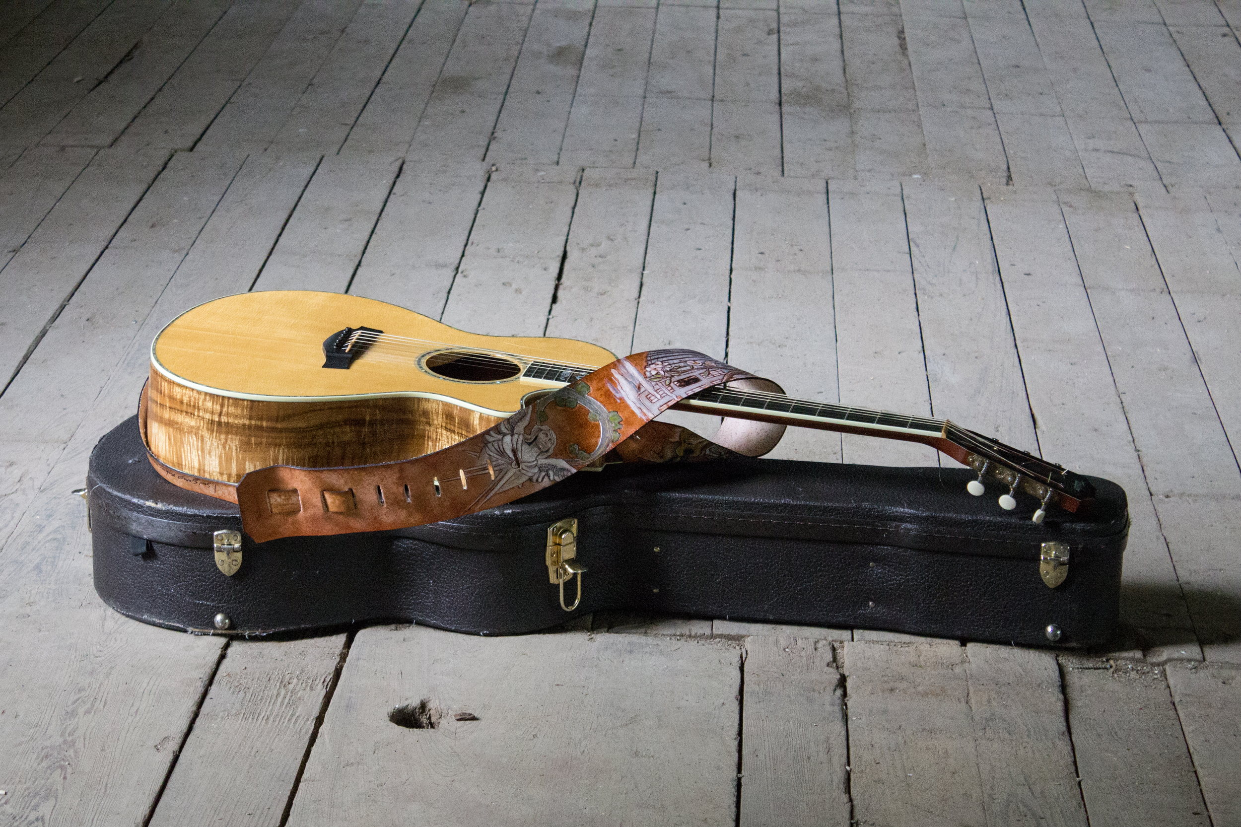 Iron and Wine Custom Guitar Strap-2