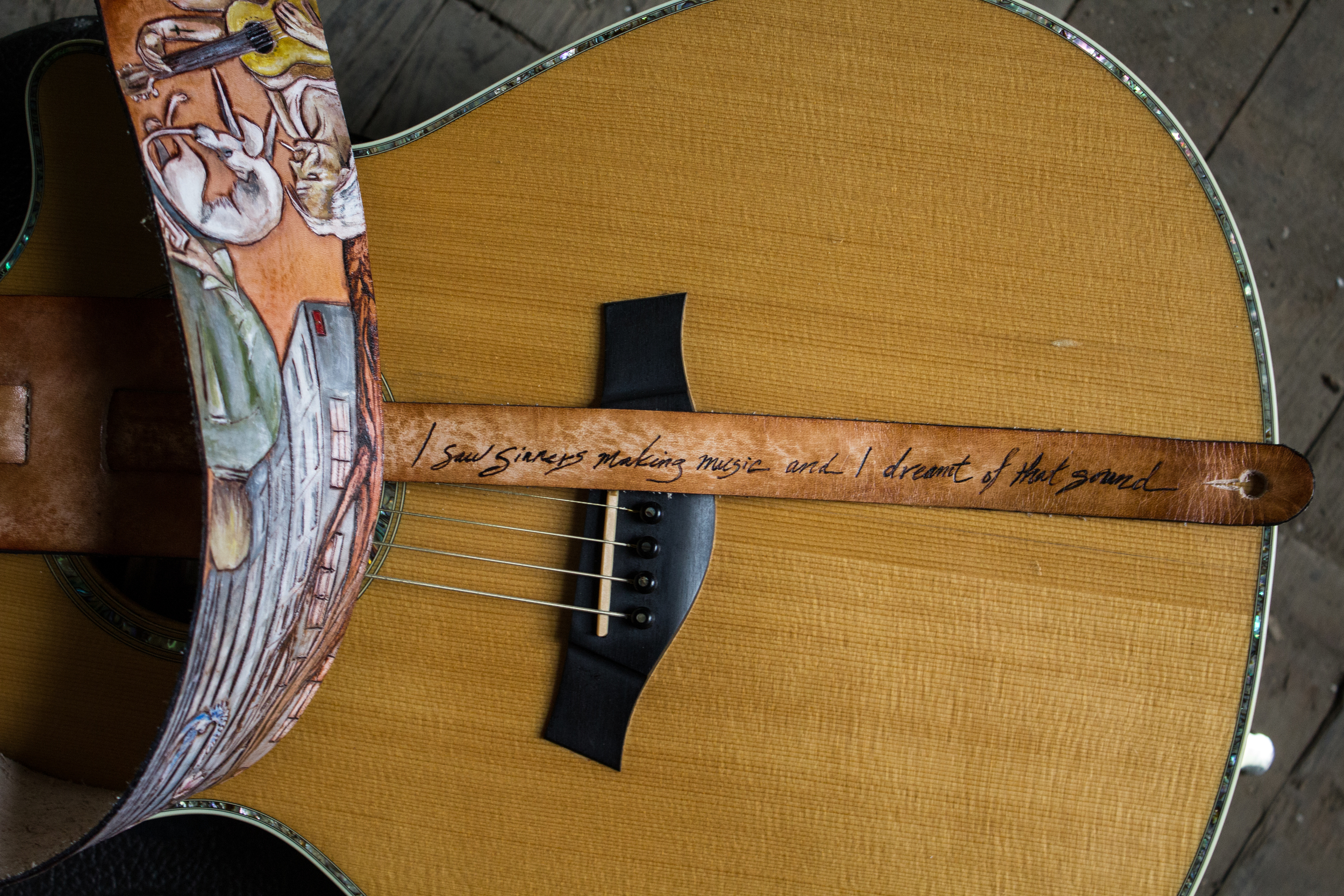 Iron and Wine Custom Guitar Strap-9