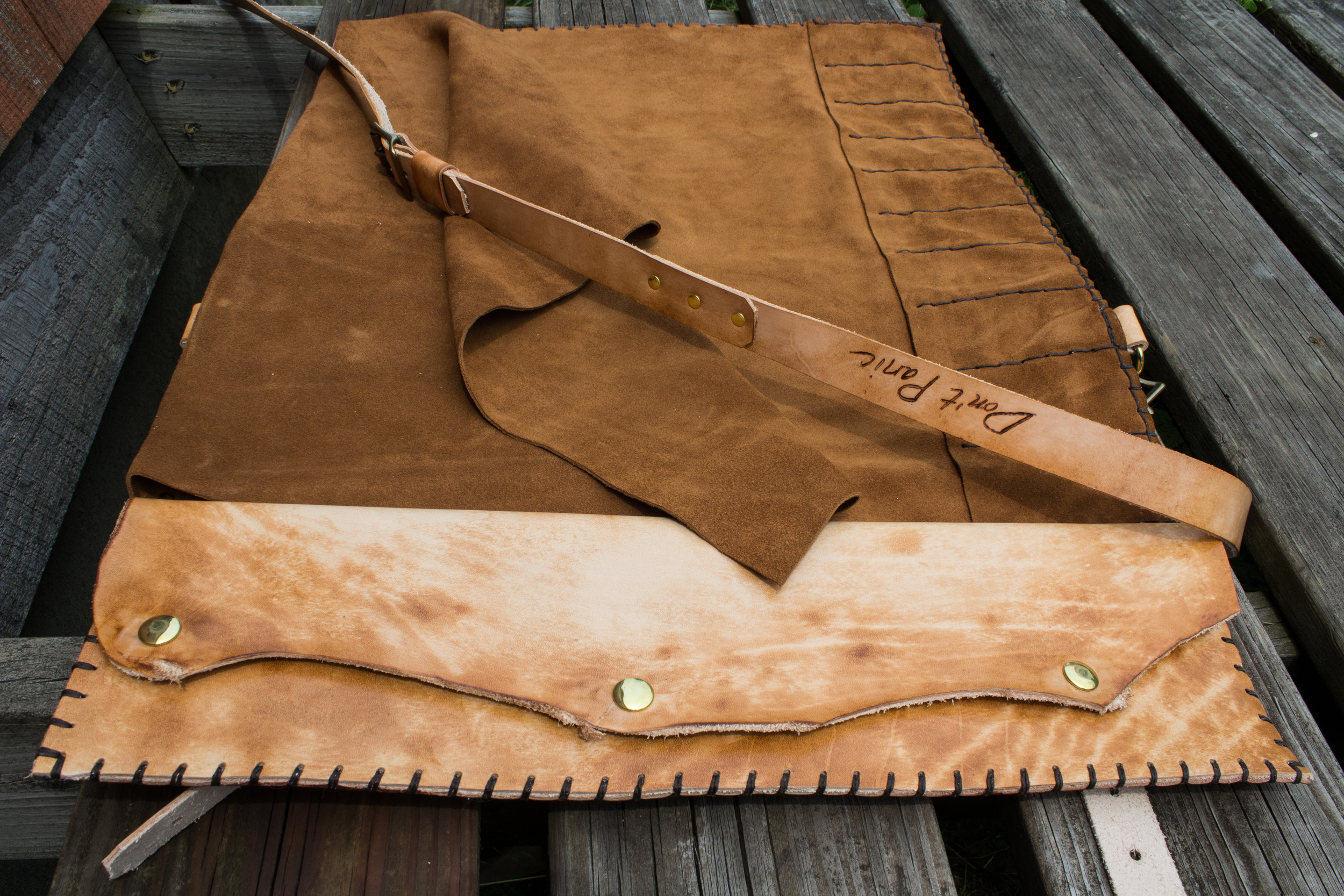 Blueprint Custom Leather Knife Roll-10