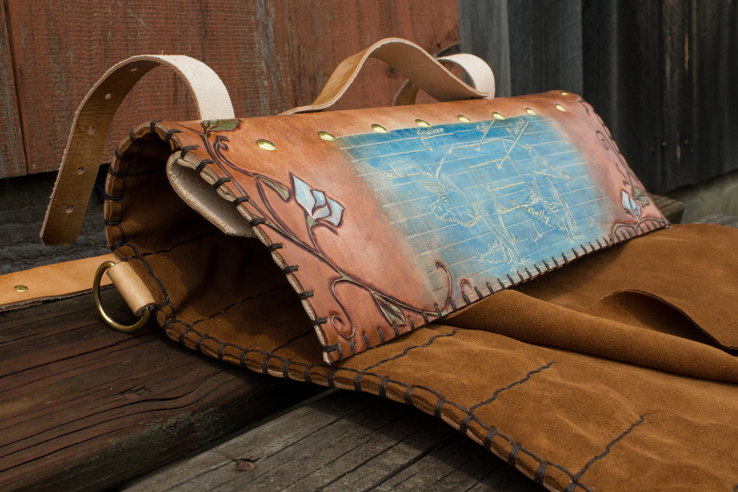 Blueprint Custom Leather Knife Roll-6