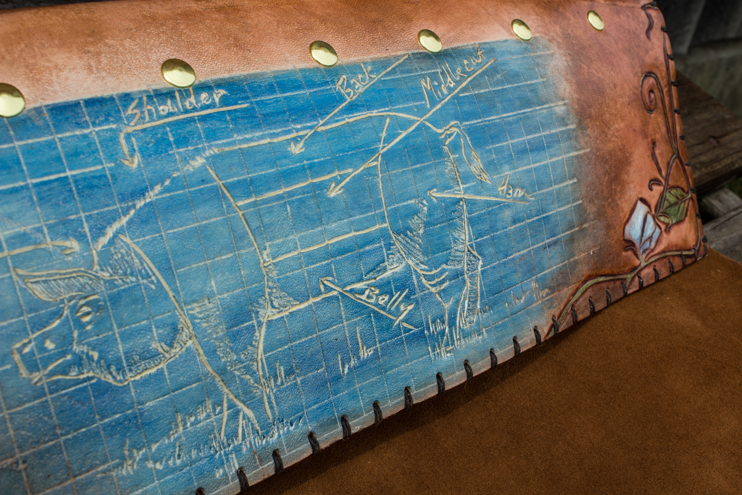 Blueprint Custom Leather Knife Roll-7