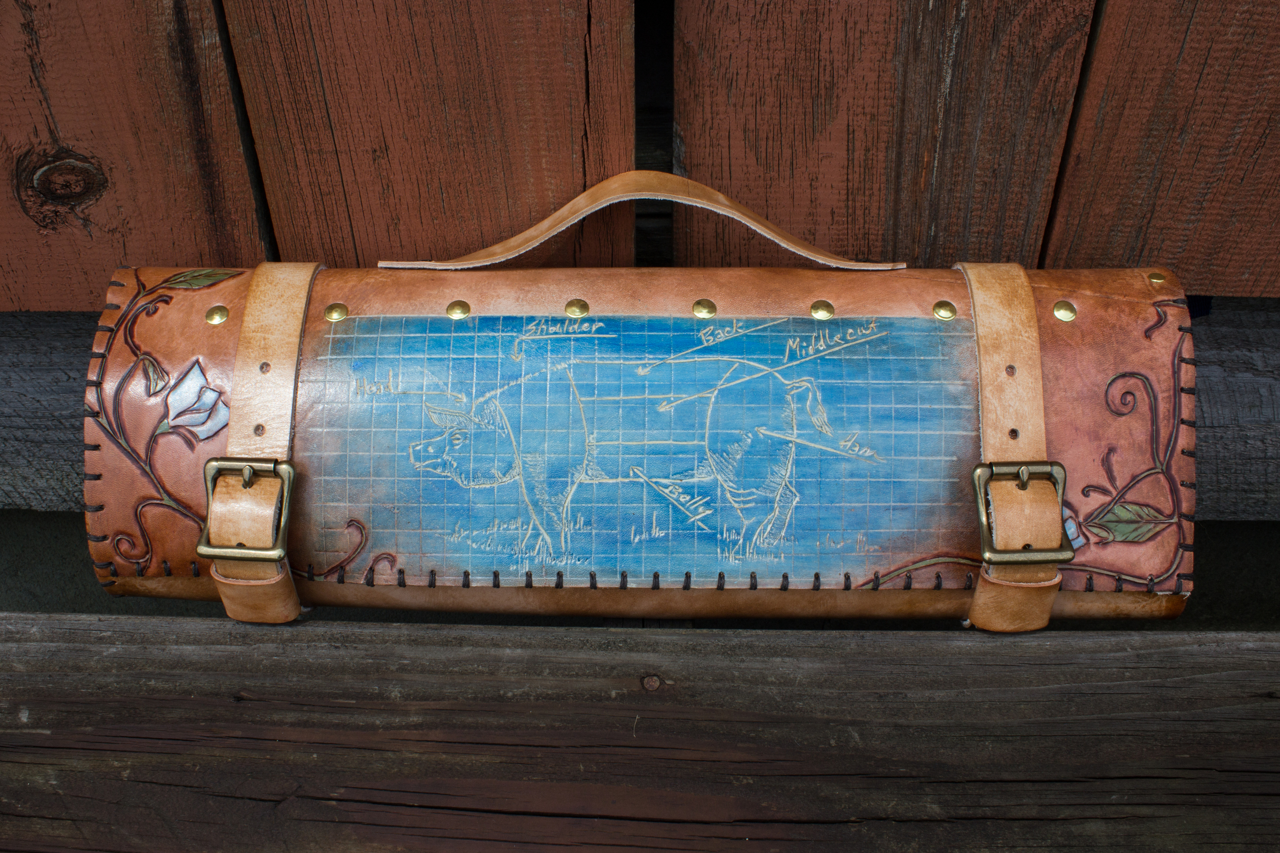 Blueprint Custom Leather Knife Roll