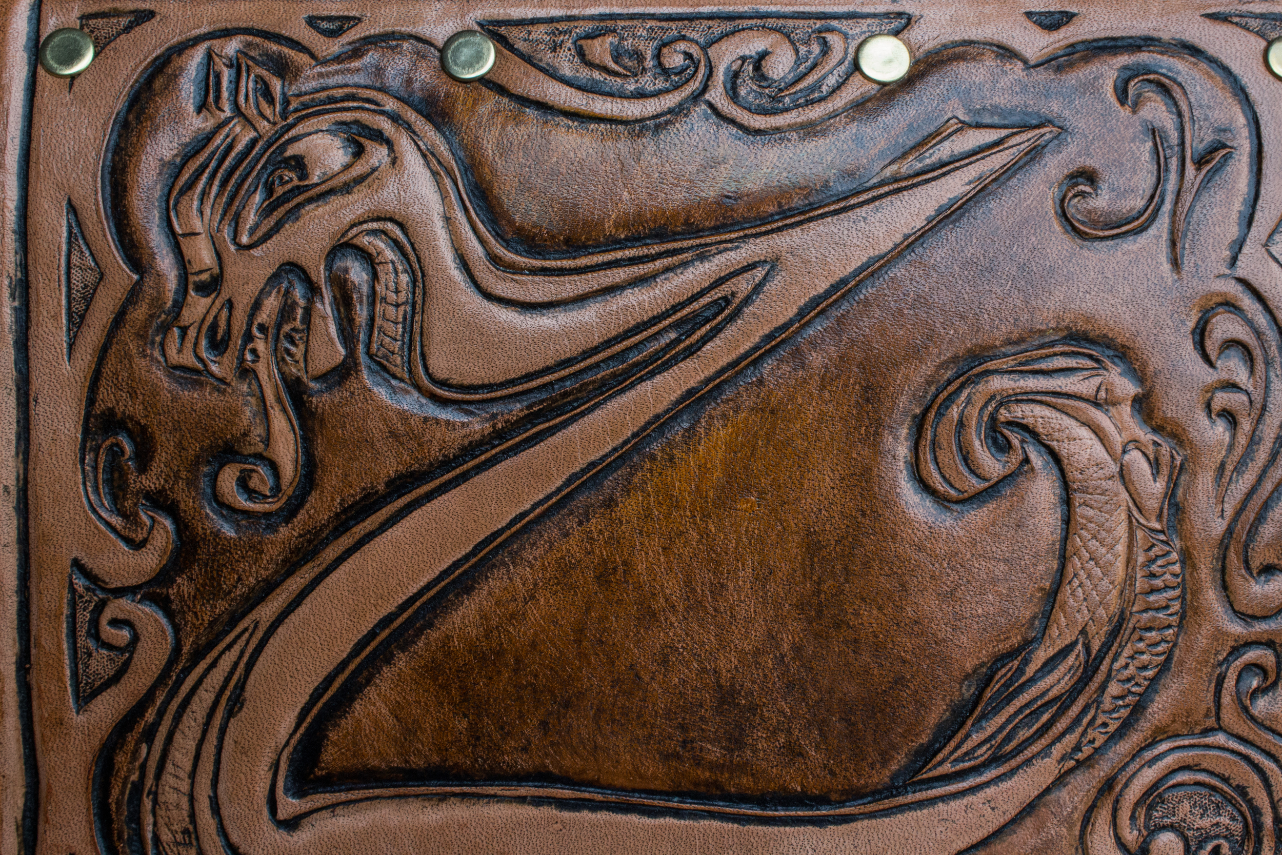 Custom Leather Knife Roll Viking-8