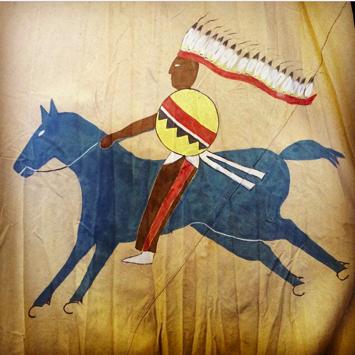 native american teepee art